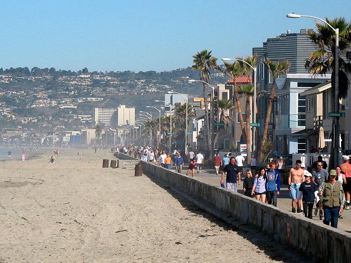 Mission Beach Pacific Boardwalk San Go Ca